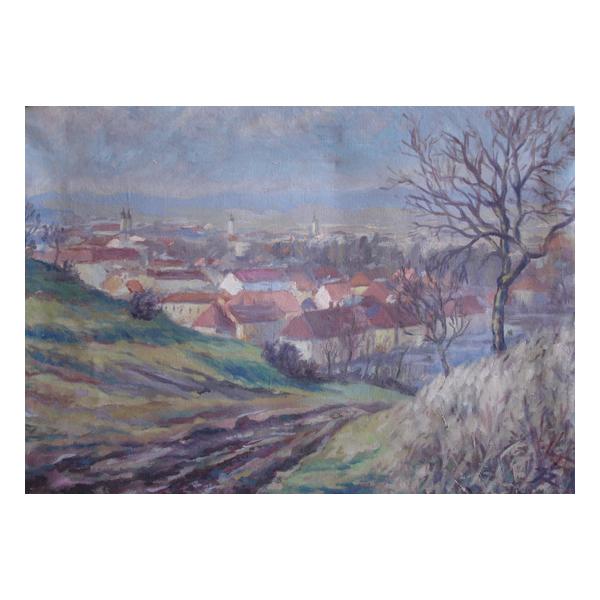J. Riha, View to Uherske Hradiste town