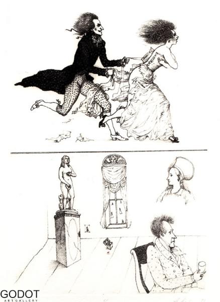 ilustration for the A.S.Pushkin's poem 'Eugen Onegin'