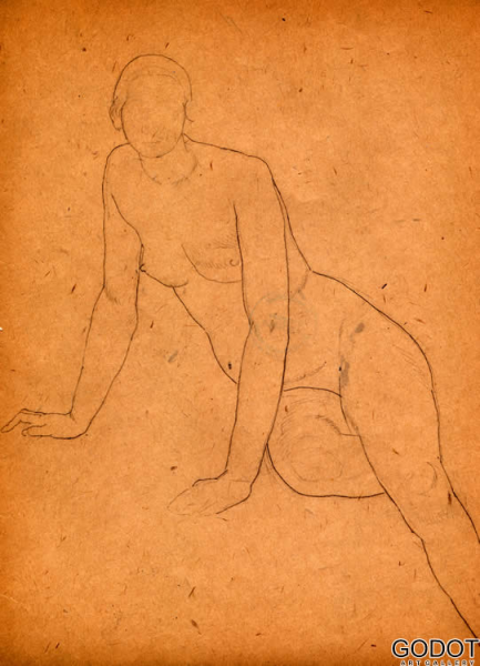 From the sketch album of nudes